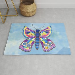 Butterfly I on a Summer Day Rug