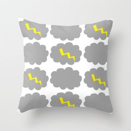 Stormy weather. Throw Pillow