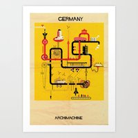 germany Art Prints featuring Germany by federico babina