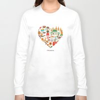ukraine Long Sleeve T-shirts featuring I Love Ukraine by Marina Zlochin