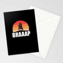 Motocross Braaap Stationery Cards