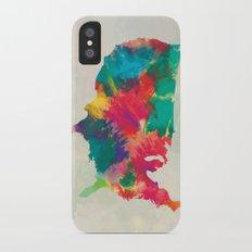 Watercolor U.S.A. Map iPhone X Slim Case