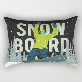 Snowboard Rectangular Pillow