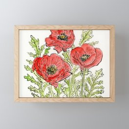 Poppies Framed Mini Art Print