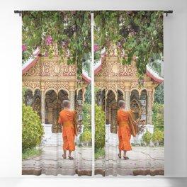 Luang Prabang Monk Blackout Curtain