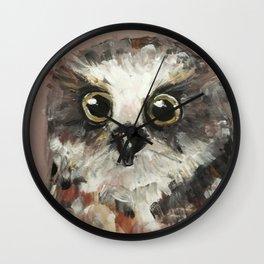 Nursery Art / Nursery Decor - Baby Owl Wall Clock