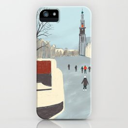 Ice Skating in Amsterdam iPhone Case