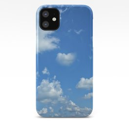 Blue sky and clouds iPhone Case