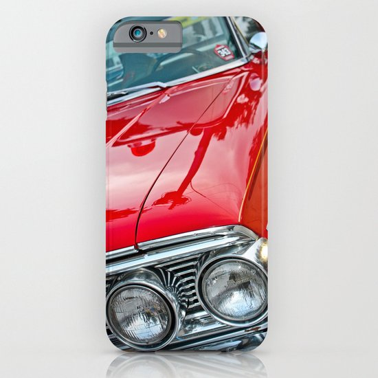 Red Ford Custom 500 Galaxie Police Car iPhone & iPod Case