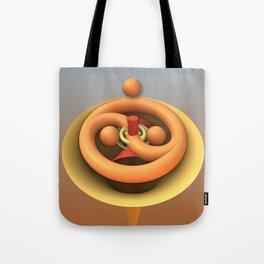 Ying and Yang fractal 3-d art Tote Bag