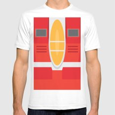 Starscream Transformers Minimalist Mens Fitted Tee MEDIUM White