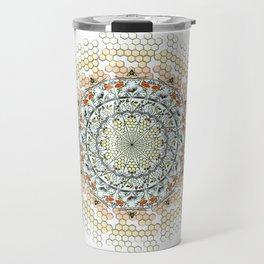 Overlapping Bee Mandala (Color) Travel Mug