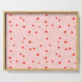 Twine and Hearts - Pink Serving Tray
