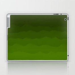Dark Rich Forest Green Ombre Laptop & iPad Skin