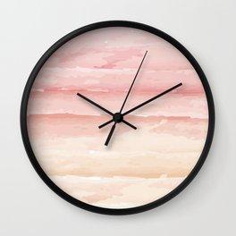 Shades of Pink Stripes Wall Clock