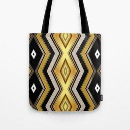 Gold Black Art Decor Diamonds v1 Tote Bag