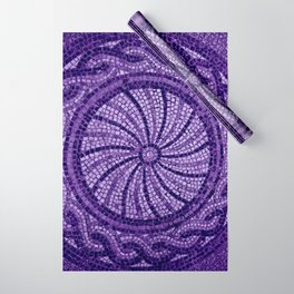 Ultra Violet Stone Tiles 18-3838 Wrapping Paper