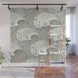 Ocean Waves Pattern Ancient Japan Art Wall Mural