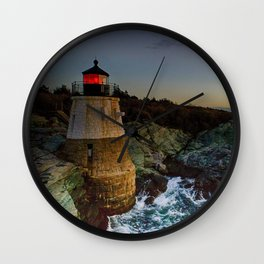 Castle Hill Lighthouse - Newport, Rhode Island Wall Clock