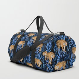 Tiger and leaf pattern Duffle Bag