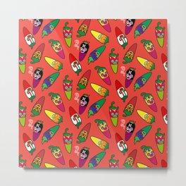Red Hot Chili Pattern 01 Metal Print