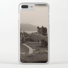 Urquhart Castle, Lock Ness, Scotland Clear iPhone Case