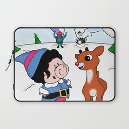 Hanging with Rudolph Laptop Sleeve