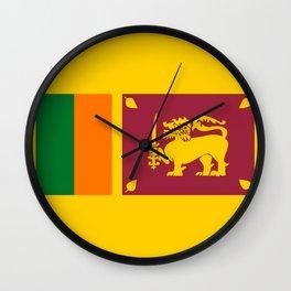Sri Lanka country flag Wall Clock