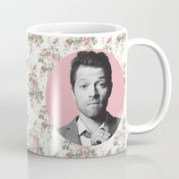 castiel Mugs featuring CASTIEL by Hands in the Sky