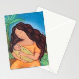 Hawaiian Mother & Child, Banana Tree Stationery Cards