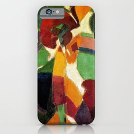 Woman with umbrella La Parisienne by Robert Delaunay iPhone Case