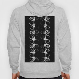 Spirals and Swirls Black and White Pattern Hoody