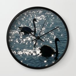 The Sparkle of the Swans Wall Clock