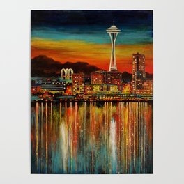 Seattle from Alki Poster