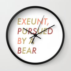 Shakespeare - The Winter's Tale - Exeunt Exit Pursued by a Bear Wall Clock