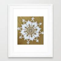 golden Framed Art Prints featuring Golden by Aries Art