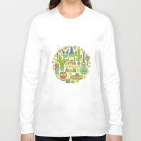 mexico Long Sleeve T-shirts featuring Viva Mexico by Olga Zakharova