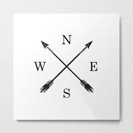 Arrows NSEW Metal Print