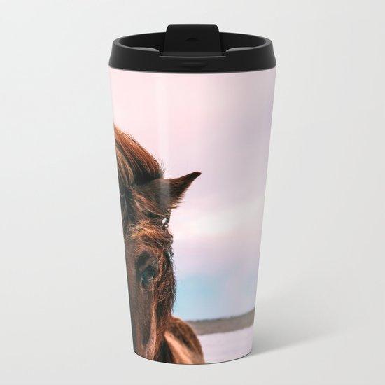 Wild Horse Metal Travel Mug