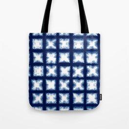 Indigo Shibori Granny Squares Tote Bag