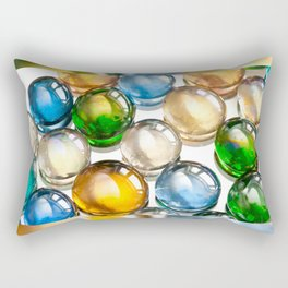 Glass balls marbles abstract Rectangular Pillow