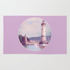Lighthouse at Lindau, Lake of Constance Rug