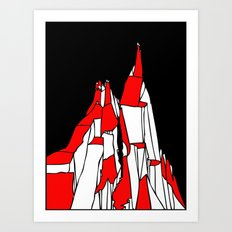 Kazalt Mountain Art Print
