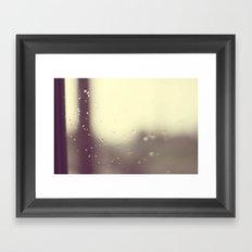 Here Comes The Rain Again Framed Art Print