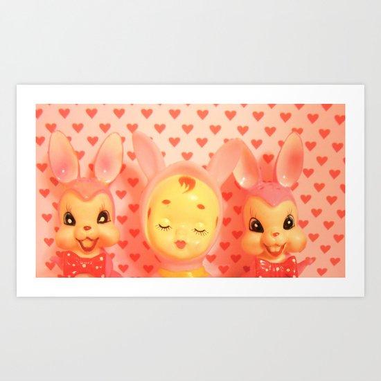 Hearts A Flutter Art Print