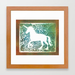 Unicorn Drawing Meditation - Stencil Print #1 Framed Art Print