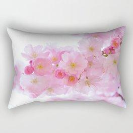 Pink Cherry Blossoms Rectangular Pillow