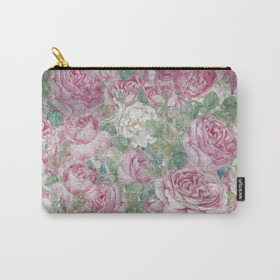 Vintage & Shabby-chic - floral roses flowers rose flower Carry-All Pouch
