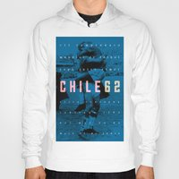 chile Hoodies featuring World Cup: Chile 1962 by James Campbell Taylor