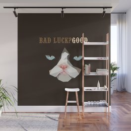Grumpy Bad Luck Cat Wall Mural